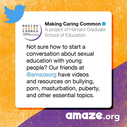 Not sure how to start a conversation about sexual education with young people? Our friends at @amazeorg have videos and resources on bullying, porn, masturbation, puberty, and other essential topics.